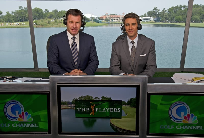 Nick Faldo and Terry Gannon