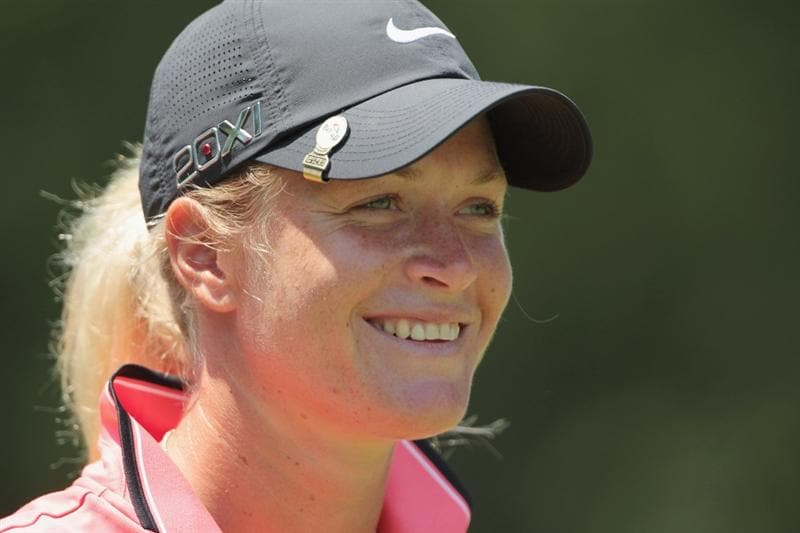 MOBILE, AL - APRIL 30:  Suzann Pettersen of Norway waits on the seventh hole during the third round of the Avnet LPGA Classic at the Crossings Course at the Robert Trent Jones Trail at Magnolia Grove on April 30, 2011 in Mobile, Alabama.  (Photo by Scott Halleran/Getty Images)