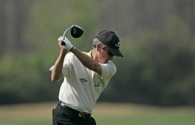 Mark McNulty hits from the 1st tee during the second pro-am round of the 2006 Outback Steakhouse Pro-Am held at TPC of Tampa Bay in Lutz, Florida, on February 23, 2006.Photo by: Chris Condon/PGA TOUR