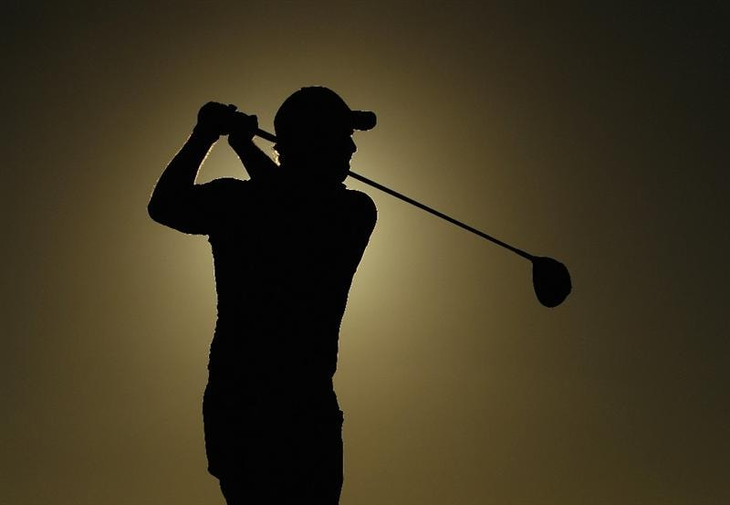 VILAMOURA, PORTUGAL - OCTOBER 15:  David Howell of England tee's off at the 18th during the second round of the Portugal Masters at the Oceanico Victoria Golf Course on October 15, 2010 in Vilamoura, Portugal.  (Photo by Richard Heathcote/Getty Images)