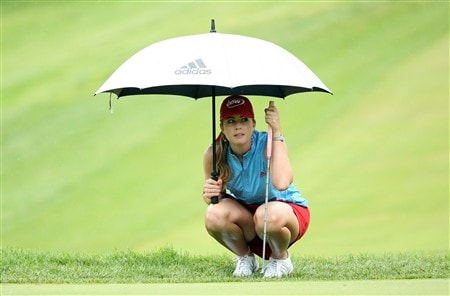 EDINA, MN - JUNE 27:  Paula Creamer  waits to putt at the 8th hole during the second round of the 2008 U.S. Women's Open Championship held at Interlachen Country Club on June 27, 2008 in Edina, Minnesota.  (Photo by David Cannon/Getty Images)