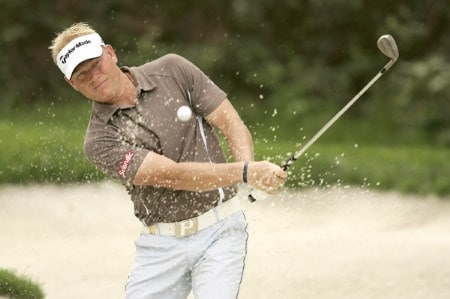 Peter Hedblom during the first round of the Volvo Masters at the Valderrama Golf Club in Sotogrande, Spain on October 27, 2005.Photo by Pete Fontaine/WireImage.com