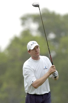 Tom Gillis tees off the 12th hole during the first round of the Shell Houston Open, Thursday April 21, 2005 at the Redstone Golf Club, Humbele, Texas.Photo by Marc Feldman/WireImage.com