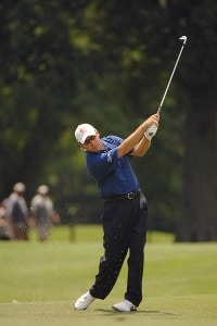 Brian Davis on the 9th hole during the fourth and final round of the Stanford St. Jude Championship at the TPC Southwind on Sunday, June 10, 2007 in Memphis, Tennessee PGA TOUR - 2007 Stanford St. Jude Championship - Final RoundPhoto by Marc Feldman/WireImage.com