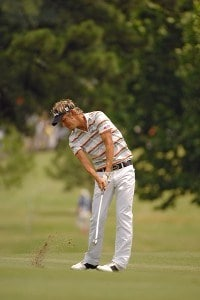 Fredrik Jacobson on the 1st hole during the fourth and final round of the Stanford St. Jude Championship at the TPC Southwind on Sunday, June 10, 2007 in Memphis, Tennessee PGA TOUR - 2007 Stanford St. Jude Championship - Final RoundPhoto by Marc Feldman/WireImage.com