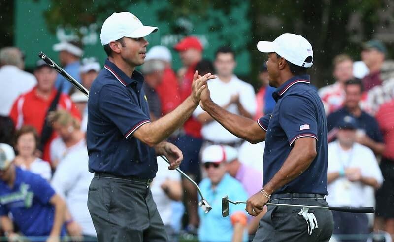 Matt Kuchar and Tiger Woods
