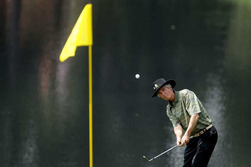 AUGUSTA, GA - APRIL 07:  Hubert Green hits a shot during the Par 3 Contest prior to the 2010 Masters Tournament at Augusta National Golf Club on April 7, 2010 in Augusta, Georgia.  (Photo by Andrew Redington/Getty Images)
