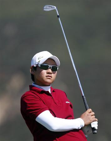 DANVILLE, CA - OCTOBER 10: Yani Tseng of Taiwan makes a tee shot on the 16th hole during the second round of the LPGA Longs Drugs Challenge at the Blackhawk Country Club October 10, 2008 in Danville, California. (Photo by Max Morse/Getty Images)
