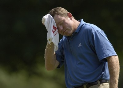 Shaun Micheel during the third round of the U.S. Bank Championship in Milwaukee at Brown Deer Park Golf Course in Milwaukee, Wisconsin, on July 29, 2006.Photo by Steve Levin/WireImage.com