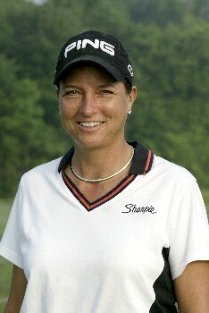 Sherri Steinhauer during the first round of the 2005 McDonald's LPGA Championship at Bulle Rock Golf Course in  Havre de Grace, Maryland on June 9, 2005.Photo by Michael Cohen/WireImage.com