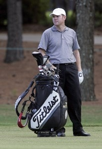 Troy Matteson on the 13th hole during the third round of the Southern Farm Bureau Classic at Annandale Golf Club in Madison, Mississippi, on September 30, 2006. Photo by Hunter Martin/WireImage.com