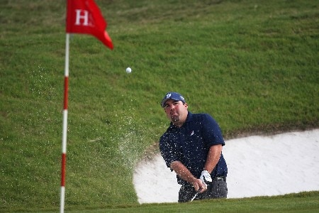 SHANGHAI, CHINA - NOVEMBER 09: Kevin Stadler of USA plays from the bunker on 8th during Day 2 of the HSBC Champions at the Sheshan Golf Club on November 9, 2007 in Shanghai, China.  (Photo by Ross Kinnaird/Getty Images)