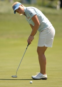 Minea Blomqvist in action during the second round of the 2006 Franklin American Mortgage Championship benefiting the Monroe Carell Jr. Children's Hospital at Vanderbilt at Vanderbilt Legends Club in Franklin, Tennessee on May 5, 2006.Photo by Steve Grayson/WireImage.com