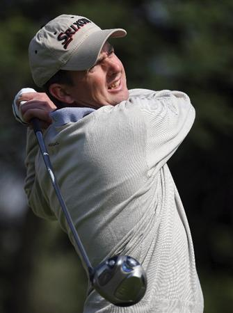SHANGHAI, CHINA - NOVEMBER 09:  Peter Lawrie of Ireland on the par five 14th tee during the third round of the HSBC Champions at Sheshan Golf Club on November 9, 2008 in Shanghai, China.  (Photo by Ross Kinnaird/Getty Images)