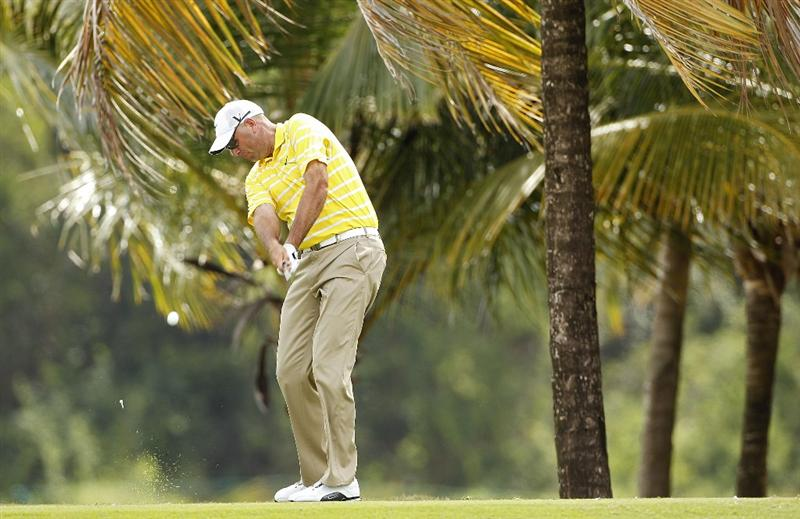 RIO GRANDE, PR - MARCH 11:  Stewart Cink hits a shot during the second round of the Puerto Rico Open presented by seepuertorico.com at Trump International Golf Club on March 11, 2011 in Rio Grande, Puerto Rico.  (Photo by Michael Cohen/Getty Images)