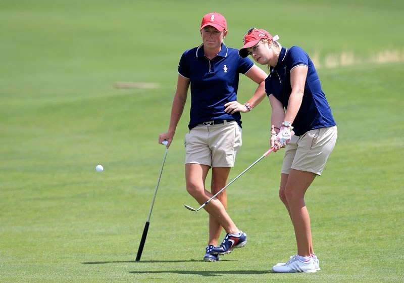 Stacey Lewis and Paula Creamer