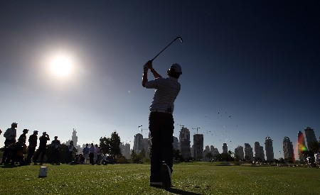 DUBAI, UNITED ARAB EMIRATES - JANUARY 29:  Rory McIlroy of Northern Ireland hits his tee shot at the 7th hole during the Dubai Desert Classic Challenge Match, held on the Par 3 Course at the Emirates Golf Club, on January 29, 2007 in Dubai, United Arab Emirates.  (Photo by David Cannon/Getty Images)