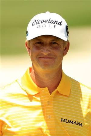 PONTE VEDRA BEACH, FL - MAY 15:  David Toms smiles on the second hole green during the final round of THE PLAYERS Championship held at THE PLAYERS Stadium course at TPC Sawgrass on May 15, 2011 in Ponte Vedra Beach, Florida.  (Photo by Streeter Lecka/Getty Images)
