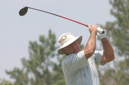 Jim Albus  drives from the fifth  tee  during the opening round of the 2005 Blue Angels Class  May 13 in Milton, Fl.Photo by Al Messerschmidt/WireImage.com