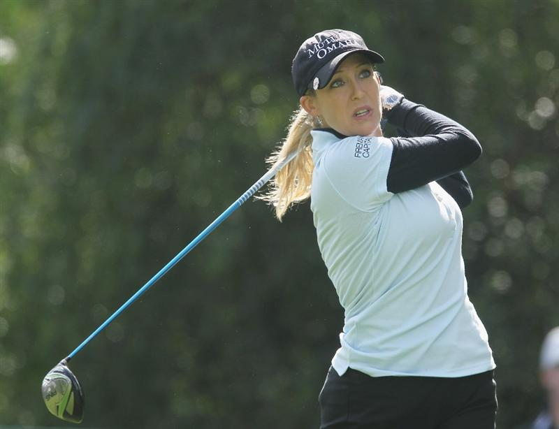 CITY OF INDUSTRY, CA - MARCH 24:  Cristie Kerr watches her tee shot on the 14th hole during the first round of the Kia Classic on March 24, 2011 at the Industry Hills Golf Club in the City of Industry, California.  (Photo by Scott Halleran/Getty Images)
