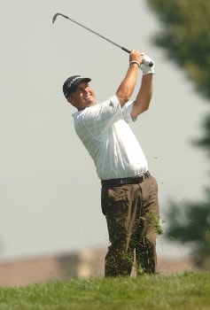 Tom Carter in action during the third round of the 2005 Mark Christopher Charity Classic Presented by Adelphia at Empire Lakes Golf Course in Rancho Cucamonga, California September 17, 2005.Photo by Steve Grayson/WireImage.com