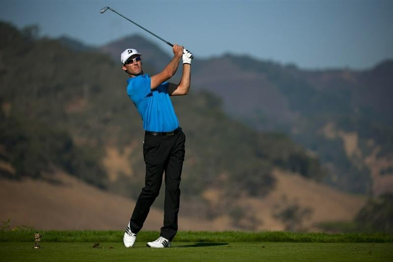 SAN MARTIN, CA - OCTOBER 15:  Will MacKenzie makes a tee shot on the seventh hole during the second round of the Frys.com Open at the CordeValle Golf Club on October 15, 2010 in San Martin, California.  (Photo by Robert Laberge/Getty Images)