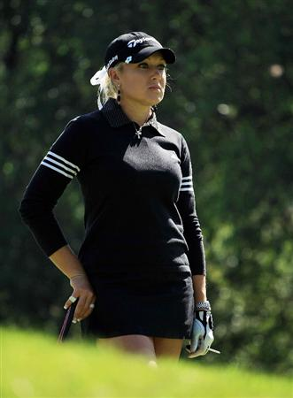 HUIXQUILUCAN, MEXICO - MARCH 22:  Natalie Gulbis of the USA waits on the 11th hole during the final round of the MasterCard Classic at the BosqueReal Country Club on March 22, 2009 in Huixquiucan, Mexico.  (Photo by Scott Halleran/Getty Images)