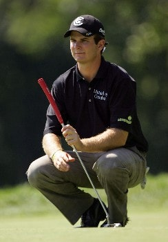 PARAMUS, NJ - AUGUST 21:  Kevin Streelman plays a shot during the first round of The Barclays at Ridgewood Country Club on August 21, 2008 in Paramus New Jersey.  (Photo by Sam Greenwood/Getty Images)