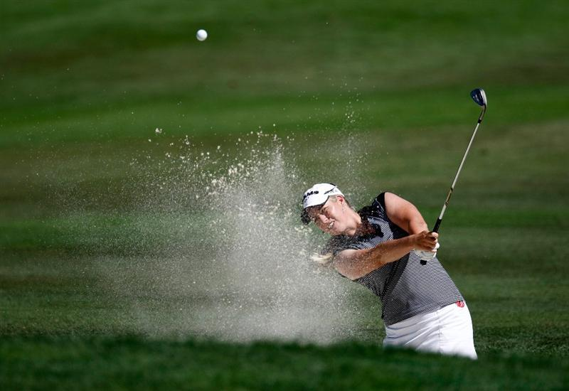 DANVILLE, CA - SEPTEMBER 24:  Brittany Lincicome hits out of the bunker on the 3rd hole during the first round of the CVS/pharmacy LPGA Challenge at Blackhawk Country Club on September 24, 2009 in Danville, California.  (Photo by Jonathan Ferrey/Getty Images)