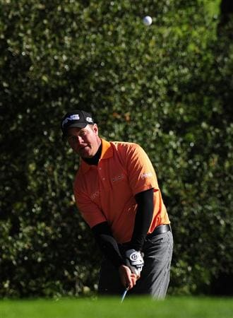 PEBBLE BEACH, CA - FEBRUARY 13:  Ted Purdy hits a chip shot on the 16th hole during round three of the AT&T Pebble Beach National Pro-Am at Spyglass Hill Golf Course on February 13, 2010 in Pebble Beach, California.  (Photo by Stuart Franklin/Getty Images)