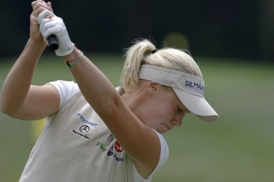 Minea Blomqvist during practice for the Safeway Classic at Columbia-Edgewater Country Club on August 17, 2006 in Portland, Oregon.Photo by Al Messerschmidt/WireImage.com