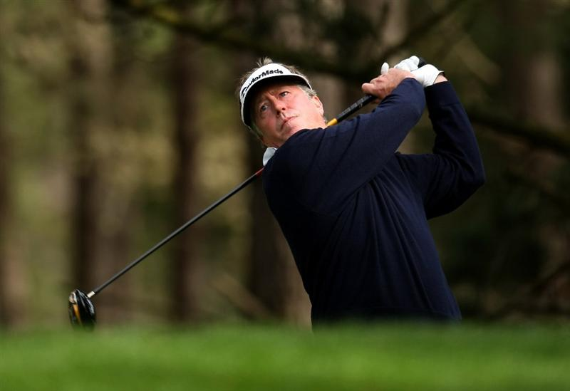 PEBBLE BEACH, CA - FEBRUARY 14: Michael Allen hits his tee shot on the fifth hole on Poppy Hills Golf Course during the third round of the the AT&T Pebble Beach National Pro-Am on February 14, 2009 in Pebble Beach, California. (Photo by Stephen Dunn/Getty Images)