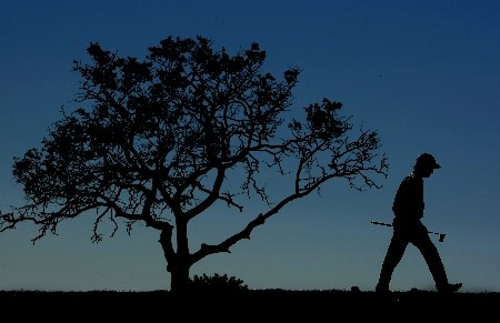 VILAMOURA, PORTUGAL - OCTOBER 21:  Steve Webster of England walks to the 4th green during the final round of the Portugal Masters at Oceanico Victoria Clube de Golfe on 21 October, 2007 in Vilamoura, Portugal.  (Photo by Richard Heathcote/Getty Images)