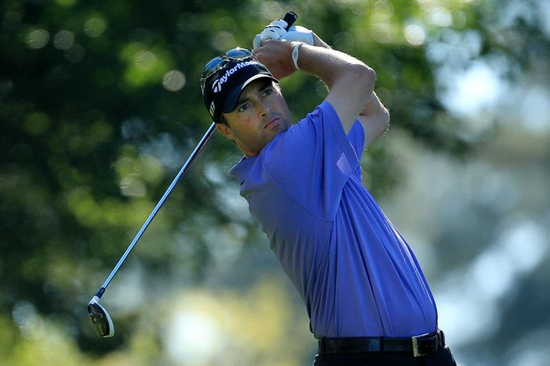 AUGUSTA, GA - APRIL 07:  Ryan Palmer watches his tee shot on the fourth hole during the first round of the 2011 Masters Tournament at Augusta National Golf Club on April 7, 2011 in Augusta, Georgia.  (Photo by David Cannon/Getty Images)