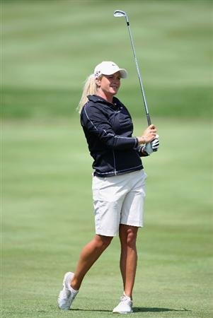 SPRINGFIELD, IL - JUNE 04:  Suzann Pettersen of Norway hits her second shot on the 15th hole during the first round of the LPGA State Farm Classic golf tournament at Panther Creek Country Club on June 4, 2009 in Springfield, Illinois.  (Photo by Christian Petersen/Getty Images)
