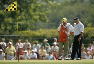 ENDICOTT, NY - JULY 15:  R.W. Eaks during the final round of the Dick's Sporting Goods Open being held at En Joi Golf Club in Endicott, NY on July 15, 2007. (Photo by Mike Ehrmann/WireImage) *** Local Caption *** R.W. Eaks Champions Tour - 2007 Dick's Sporting Goods Open - Final RoundPhoto by Mike Ehrmann/WireImage) *** Local Caption *** R.W. Eaks