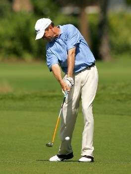 PALM BEACH GARDENS, FL - MARCH 02:  Davis Love III hits a shot on the 3rd hole during the final round of the Honda Classic at PGA National Resort and Spa on March 2, 2008 in Palm Beach Gardens, Florida.  (Photo by Sam Greenwood/Getty Images)