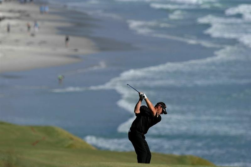 PEBBLE BEACH, CA - JUNE 17:  Alex Cejka of Germany hits a shot on the ninth hole during the first round of the 110th U.S. Open at Pebble Beach Golf Links on June 17, 2010 in Pebble Beach, California.  (Photo by Harry How/Getty Images)