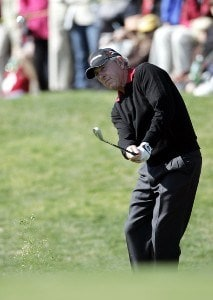 Hale Irwin in action during the final round of the Toshiba Classic at Newport Beach Country Club in Newport Beach, California on March 19, 2006.Photo by Gregory Shamus/WireImage.com