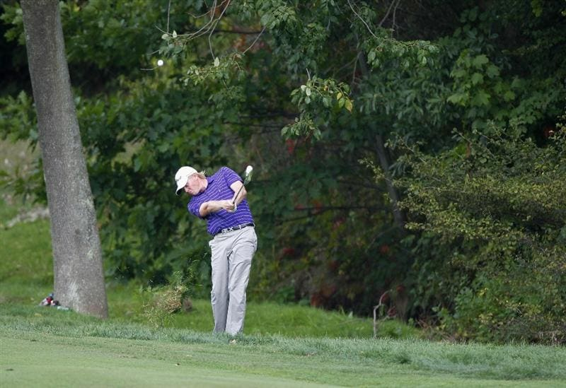 CANONSBURG, PA - SEPTEMBER 03: Mark Anderson hits his second shot to the first green during the second round of the Mylan Classic presented by CONSOL Energy at Southpointe Golf Club on September 3, 2010 in Canonsburg, Pennsilvania.  (Photo by Gregory Shamus/Getty Images)