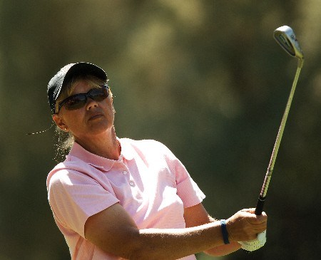 Dawn Coe-Jones in action during the final round of the 2005 LPGA Takefuji Classic at the Las Vegas Country Club in Las Vegas, Nevada, April 16, 2005.Photo by Steve Grayson/WireImage.com