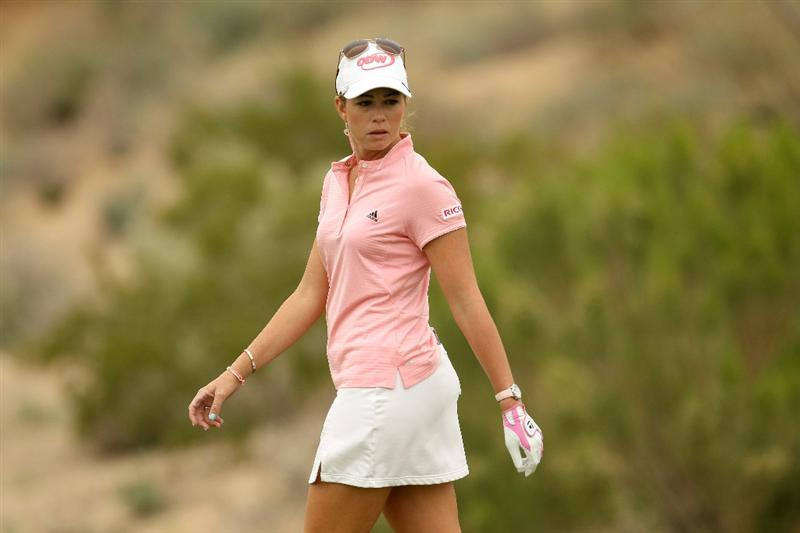 PHOENIX, AZ - MARCH 20:  Paula Creamer walks on the sixth green during the final round of the RR Donnelley LPGA Founders Cup at Wildfire Golf Club on March 20, 2011 in Phoenix, Arizona.  (Photo by Stephen Dunn/Getty Images)