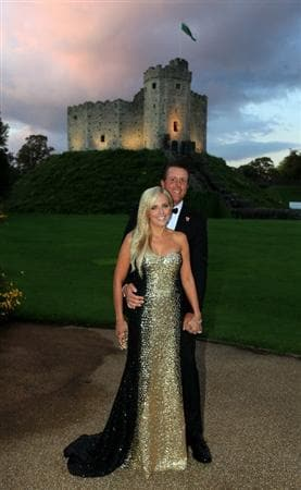 CARDIFF, WALES - SEPTEMBER 29:  Phil Mickelson of the USA with his wife Amy Mickelson during the 2010 Ryder Cup Dinner at Cardiff Castle on September 29, 2010 in Cardiff, Wales.  (Photo by David Cannon/Getty Images)