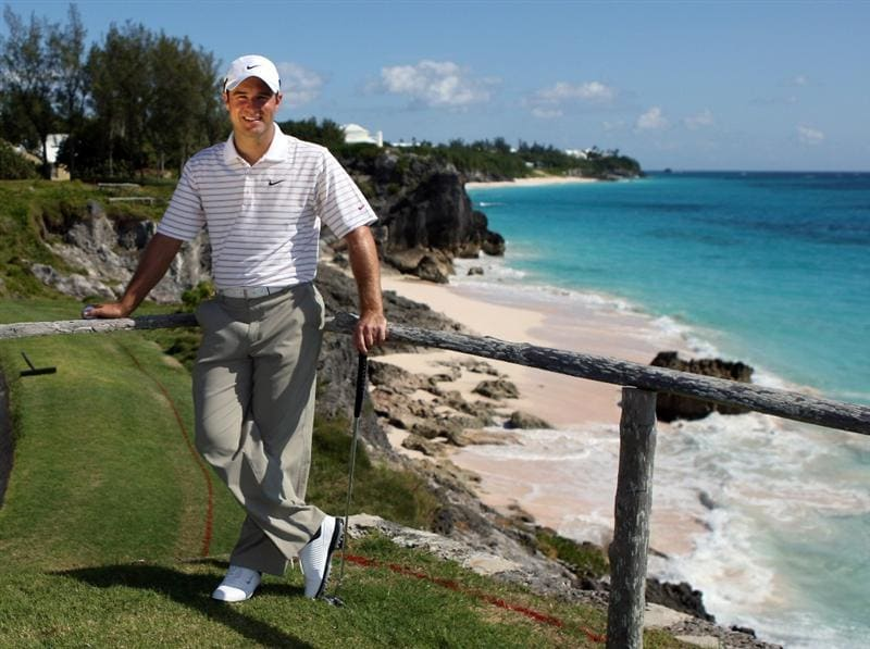 ST GEORGE, BERMUDA - OCTOBER 13:  Trevor Immelman of South Africa pictured during the pro am event prior to the PGA Grand Slam of Golf at the Mid Ocean Club on October 13, 2008 in St. George, Bermuda.  (Photo by Ross Kinnaird/Getty Images)