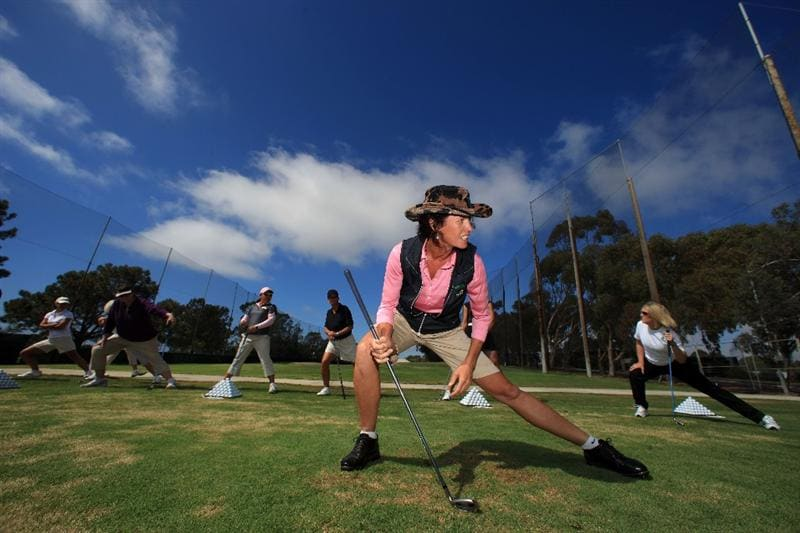 LA JOLLA, CA - SEPTEMBER 14:  Golf Instructor Dana Bates work with attendees during Fortune Magazine Clinic at the LPGA Samsung World Championship on September 14, 2009 at Torrey Pines Golf Course in La Jolla, California. (Photo By Donald Miralle/Getty Images for the LPGA)