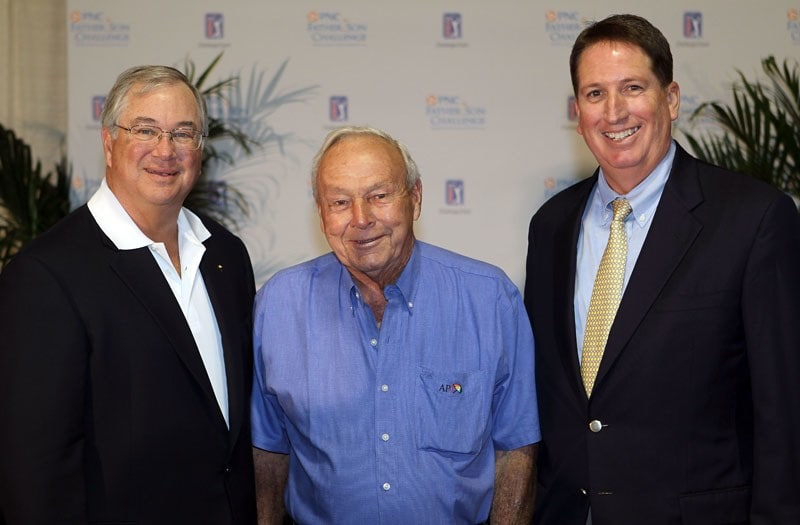 James E. Rohr, Arnold Palmer and Mike Stevens