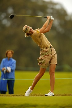 Catherine Cartwright competing in the final round of the LPGA SBS Open held at the Turtle Bay Resort on Oahu. February 26, 2005 in Kahuku, Hawaii.