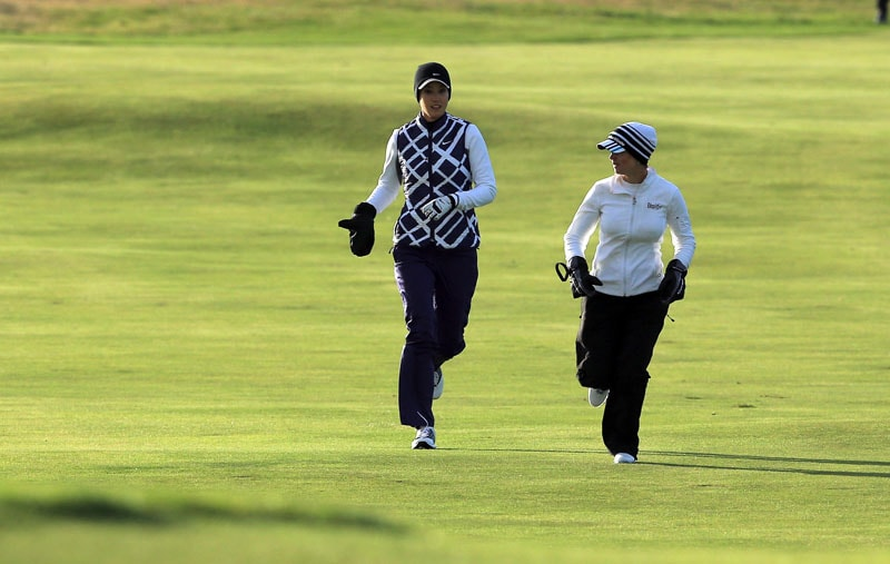Beatriz Recari and Michelle Wie