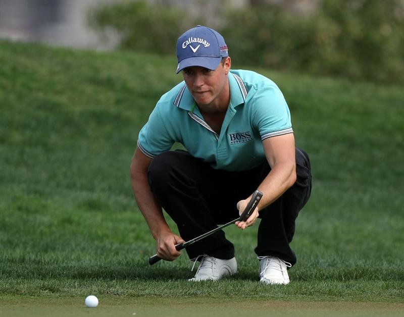 ABU DHABI, UNITED ARAB EMIRATES - JANUARY 23:  Alexander Noren of Sweden during the final round of the Abu Dhabi HSBC Golf Championship at the Abu Dhabi Golf Club on January 23, 2011 in Abu Dhabi, United Arab Emirates.  (Photo by Ross Kinnaird/Getty Images)