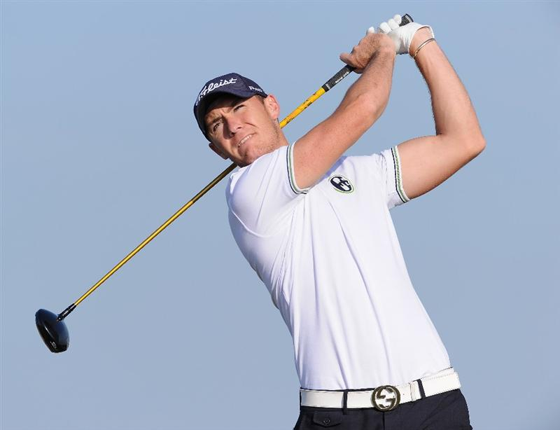 RAGUSA, ITALY - MARCH 20:  Lloyd Saltman of Scotland plays his tee shot on the fourth hole during the final round of the Sicilian Open at the Donnafugata golf resort and spa on March 20, 2011 in Ragusa, Italy.  (Photo by Stuart Franklin/Getty Images)